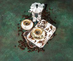coffee maker cupr beans vintage still life