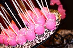Pretty pink at a Sweet 16 Birthday Party!  See more party ideas at CatchMyParty.com!  #partyideas #sweet16