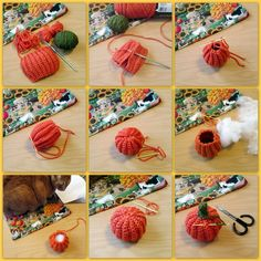 The mildly mixed up musings of a crochet fanatic! Crochet Fall, Halloween Crochet, Crochet Home, Cute Crochet, Crochet Pumpkin Pattern, Holiday Crochet Patterns, Crochet Stitches Patterns, Crochet Instructions, Yarn Crafts
