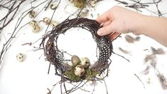 14 Best Easter Wreaths To Buy For Spring Easter Wreaths, Christmas Wreaths, Christmas Decorations, Simple Christmas, Christmas Nails, Christmas Crafts, Christmas Tree, Table Decorations, Home Crafts