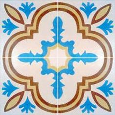 Moroccan cement painted tiles