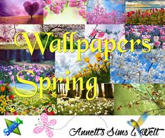 Spring wallpapers at Annett's Sims 4 Welt via Sims 4 Updates
