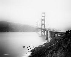 Fine Art Photography, Landscape Photography, Panorama Camera, San Francisco Architecture, Black And White Landscape, Black White, White Art, Fort Point, White Aesthetic