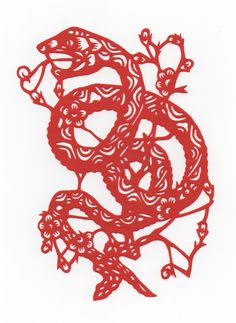 Chinese Papercut - Year of the Snake