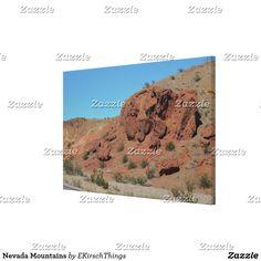 Nevada Mountains Canvas Print