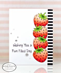 PiecesbyEmily, Paper Sweeties, Copic Strawberries, handmade card, card making,