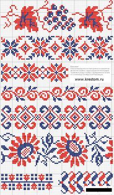 узоры для вышивки крестиком схемы - Пошук Google