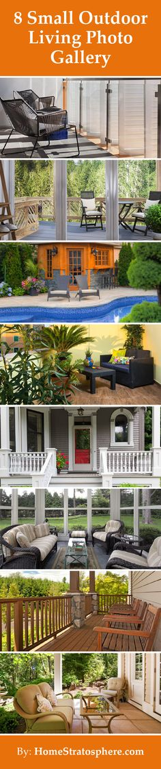 8 Small Outdoor Living Photo Gallery