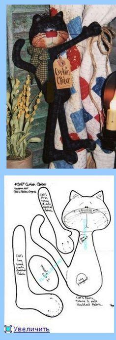 Gato de cortina molde feltro: