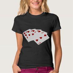 Poker Hands - Flush - Hearts Suit Tee Shirt