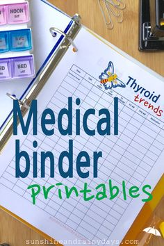 Time is valuable to both you and your doctors. Make that time as efficient as possible by creating a Medical Binder with Medical Binder Printables containing all of your pertinent medical information. Carry your Medical Binder to each appointment and empower yourself with the information you need at your fingertips! All the cool kids are doing it!