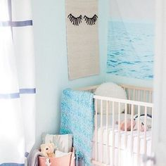 This nursery has us dreaming of the beach! Image by