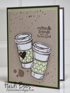 Stuck on Stampin': the perfect blend could hold a Starbuck's gift card for a birthday
