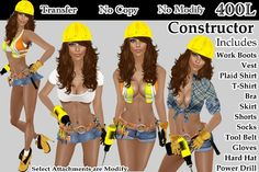 Construction worker last minute costumes... except not that slutty :p