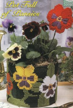 Pot Full of Pansies Plastic Canvas Pattern by needlecraftsupershop, $3.50