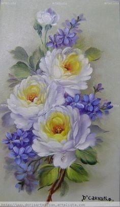 oleos de flores blancas - Buscar con Google: