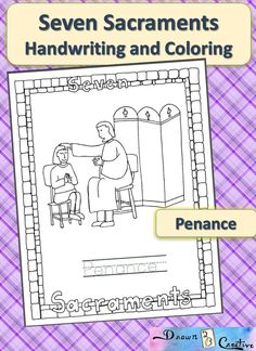 Seven Sacraments Handwriting and Coloring- Penance