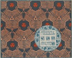 """Arachne"" upholstery design from the portfolio ""Surface Decoration"", 1902, by Koloman Moser (1868-1918)"