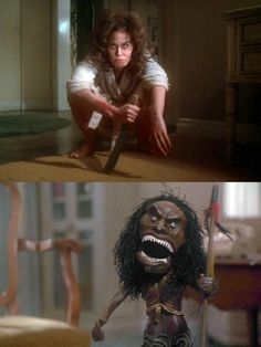"""Trilogy of Terror"" is a three-part made-for-television horror film, first aired as an ABC Movie of the Week on March 4, 1975. The film was originally a failed pilot for a horror anthology television series. The best segment, hands-down, stars Karen Black as ""Amelia"" in the story of a woman alone in her high-rise apartment with a rather determined Zuni fetish doll."
