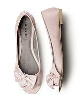 Blush pink flats for wedding dress