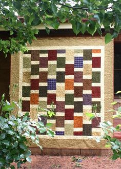 40th birthday quilt for my brother by Bloom and Blossom, via Flickr