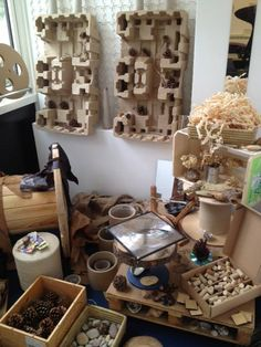 Weave Recycle - combination of scrap and natural materials to explore Gloucestershire Resource Centre http://www.grcltd.org/scrapstore/