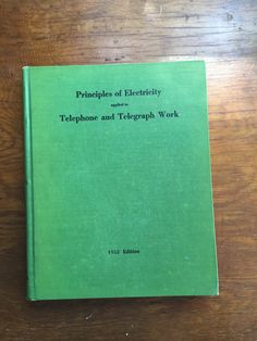 Items similar to Hardcover book Principles of electricity AT&T 1953 applied to Telephone and telegraph work on Etsy Packing Supplies, Electrical Supplies, Training Courses, Vintage Buttons, Telephone, Online Business, How To Apply, Cards Against Humanity, Handmade Gifts