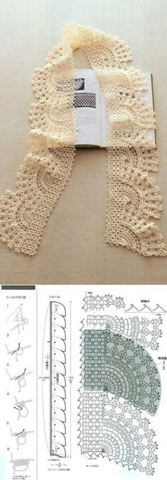 Breathtaking Crochet So You Can Comprehend Patterns Ideas. Stupefying Crochet So You Can Comprehend Patterns Ideas. Crochet Boarders, Crochet Lace Edging, Crochet Diagram, Crochet Chart, Crochet Trim, Knit Or Crochet, Filet Crochet, Crochet Scarves, Crochet Doilies