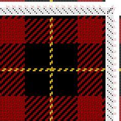 Hand Weaving Draft: Wallace (BK2, R16, BK16, Y2), , 4S, 4T - Handweaving.net Hand Weaving and Draft Archive