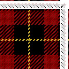 Hand Weaving Draft: Wallace (BK2, R16, BK16, Y2), , 4S, 4T - Handweaving.net Hand Weaving and Draft Archive