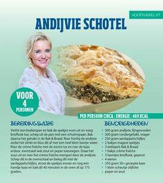 Andijvie schotel - Recept Sonja Bakker