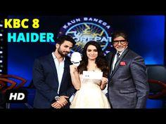 Shahid Kapoor & Shraddha Kapoor promotes HAIDER on KBC Season 8 | Amitabh Bachchan