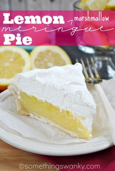 Lemon {Marshmallow} Meringue Pie | www.somethingswanky.com