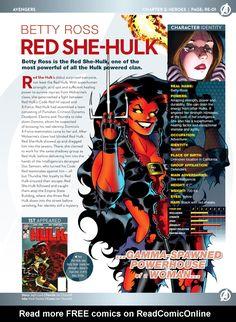 Marvel Comic Universe, Comics Universe, Marvel Vs, Marvel Dc Comics, Red She Hulk, Red Hulk, Hulk Powers, World War Hulk, Marvel Facts