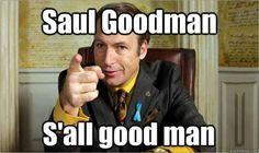 Saul Goodman is the criminal lawyer from Breaking Bad and Better Call Saul. Better Call Saul is the prequel to Breaking Bad. Walter White, Better Call Saul, Best Tv Shows, Best Shows Ever, Disney Channel, Breaking Bad Saul, News Breaking, Beaking Bad, Spoiler Alert