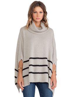 Apricot Striped Cape Style Sweater 20.50