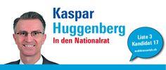 """""""Es braucht unternehmerisches Denken und Engagement, damit es unserer Gesellschaft gut geht. """" http://kasparhuggenberg.wahlenzuerich.ch"""