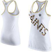 Women's New Orleans Saints Nike White Warp Tri-Blend Performance Tank Top