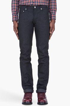 A.P.C. Black New Standard Selvage Denim Jeans for men | SSENSE