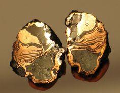 Copper replacement agate    Wolverine No. 2 shaft, Wolverine Mine, Wolverine, Houghton Co., Michigan, USA