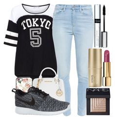 """""""Untitled #198"""" by steph-gal ❤ liked on Polyvore featuring Yoek, Paige Denim, MICHAEL Michael Kors, NIKE, By Terry, NARS Cosmetics, Stila and Chanel"""