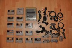 Super Nintendo SNES PAL 4 Kontroller + 13 Spiele + Gameboy Adapter, Super Mario