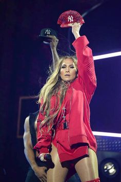 Jennifer Lopez performing at the Tidal x Brooklyn concert event in NYC