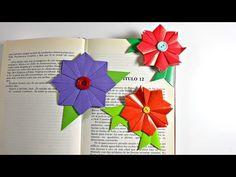 Marcapáginas de origami modular | Flor de origami modular | Origami Bookmark | Mundo@Party - YouTube