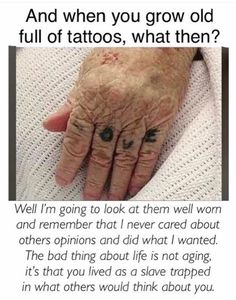 Live your life and don't waste time worrying about what people think about y tattoos sleeve - tattoo Bild Tattoos, Body Art Tattoos, Small Tattoos, Tatoos, Cool Tattoos For Girls, Random Tattoos, Hidden Tattoos, Tiny Finger Tattoos, Finger Tattoo Designs