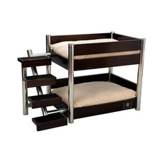 Brown Metropolitan Double Pet Bed Dog Bed - 'bunk beds' for dogs! Designer Dog Beds, Bunk Beds With Stairs, Stuffed Animal Storage, Bunk Bed Designs, Pet Beds, Doggie Beds, Pet Accessories, Dog Accesories, Pet Supplies