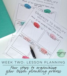 Organize to Simplify: Four Steps to Organizing your Lesson Planning Process — everything just so