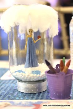 Frozen girl Birthday Party decorations!  See more party ideas at CatchMyParty.com!