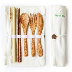 flatware set with chopsticks Utensil Set, Flatware Set, Sustainable Living, Diy And Crafts, Sewing Projects, Cleaning, Couture, Gifts, Eco Friendly