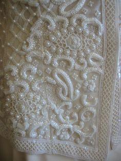 Lesage embroidery on the Oscar de la Renta jacket.
